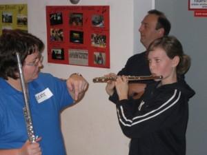 Gelernt hat sie dann doch Saxophon